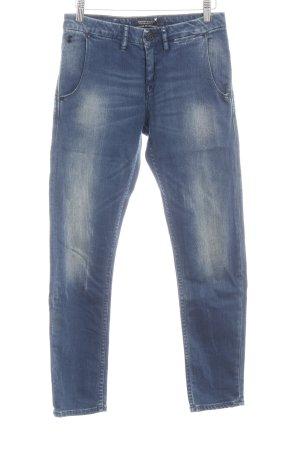 Maison Scotch Stretch Jeans dunkelblau Washed-Optik
