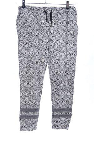 Maison Scotch Pantalone elasticizzato grigio chiaro-nero stampa integrale