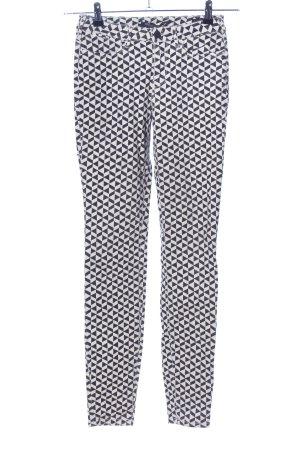 Maison Scotch Stretchhose schwarz-weiß Allover-Druck Casual-Look