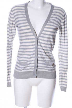 Maison Scotch Strick Cardigan hellgrau-weiß meliert Casual-Look