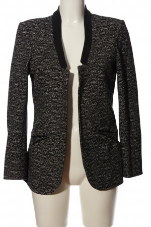 Maison Scotch Strickblazer schwarz-wollweiß Webmuster Business-Look