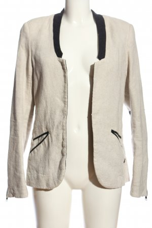 Maison Scotch Strickblazer hellgrau-schwarz meliert Casual-Look