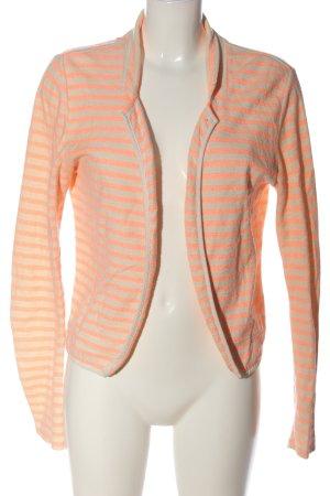 Maison Scotch Blazer in maglia bianco sporco-arancione chiaro motivo a righe