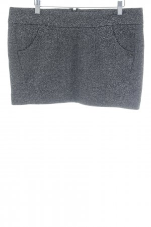 Maison Scotch Knitted Skirt dark grey flecked casual look
