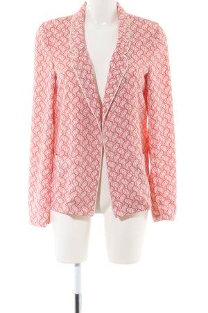 Maison Scotch Sweatblazer pink-wollweiß Allover-Druck Casual-Look