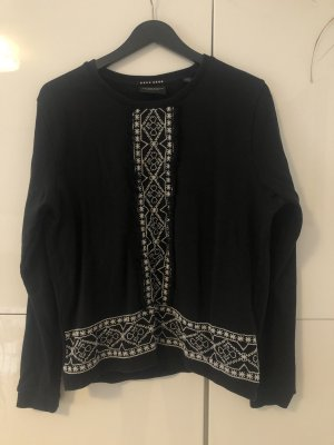 Maison Scotch Sweatshirt noir-blanc