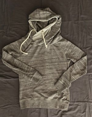 Maison Scotch Sweater Kapuzensweater 38 grau rosa Glitzer