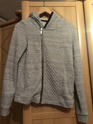 Maison Scotch Veste sweat argenté-gris clair coton