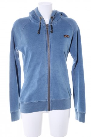 Maison Scotch Sweatjacke blau-silberfarben meliert Casual-Look