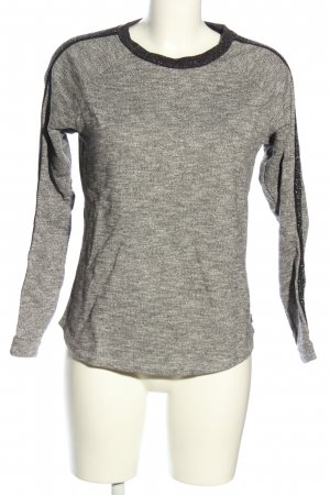 Maison Scotch Sweatshirt hellgrau-schwarz Casual-Look