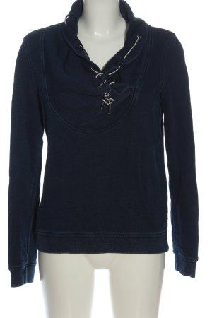 Maison Scotch Sweat Shirt blue weave pattern casual look