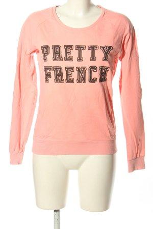 Maison Scotch Sweatshirt pink-braun Schriftzug gedruckt Casual-Look