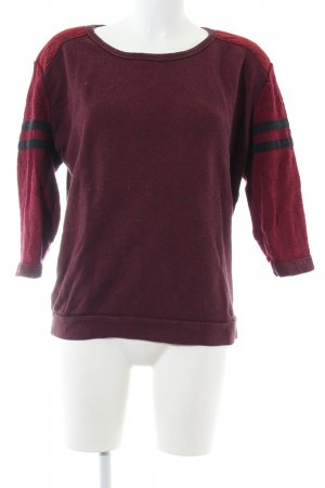 Maison Scotch Sweatshirt rot-schwarz Casual-Look