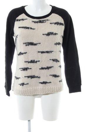 Maison Scotch Sweatshirt schwarz-wollweiß Casual-Look