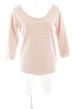 Maison Scotch Sweatshirt creme Streifenmuster Casual-Look