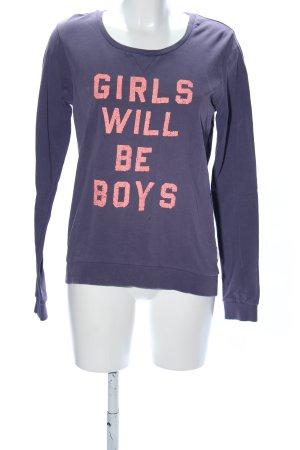 Maison Scotch Sweatshirt lila-pink Schriftzug gedruckt Casual-Look