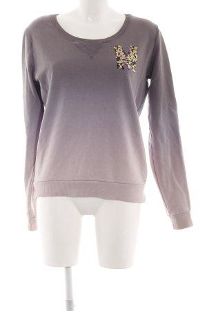 Maison Scotch Sweatshirt braun-creme Farbverlauf Casual-Look