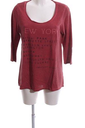 Maison Scotch Sweatshirt rot Schriftzug gedruckt Casual-Look