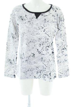 Maison Scotch Sweatshirt weiß-schwarz Allover-Druck Casual-Look