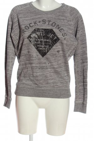 Maison Scotch Sweatshirt hellgrau-schwarz meliert Casual-Look