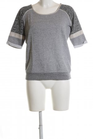 Maison Scotch Sweatshirt hellgrau meliert Casual-Look