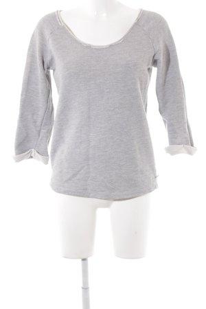 Maison Scotch Sweatshirt gris clair-blanc style décontracté