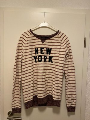 Maison Scotch sweatshirt in rot/beige