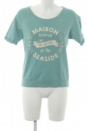 Maison Scotch Sweatshirt mint Motivdruck Casual-Look