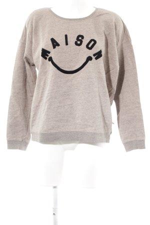 Maison Scotch Sweatshirt Schriftzug gedruckt