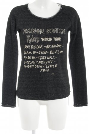 Maison Scotch Sweatshirt schwarz Schriftzug gedruckt Casual-Look