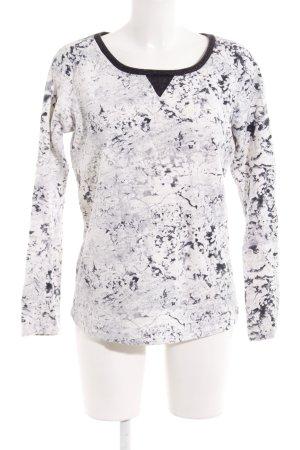 Maison Scotch Sweatshirt schwarz-weiß extravaganter Stil
