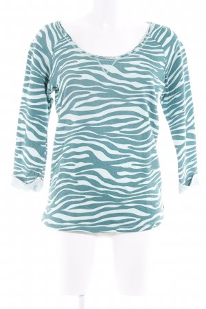 Maison Scotch Sweatshirt waldgrün-blassgrün Animalmuster Casual-Look