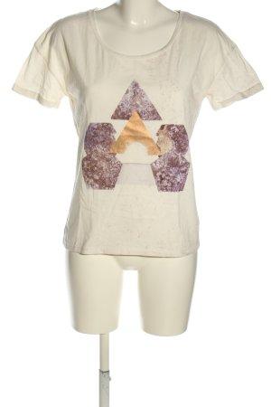 Maison Scotch T-Shirt creme-pink Motivdruck Casual-Look