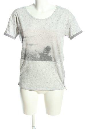 Maison Scotch T-Shirt hellgrau meliert Casual-Look