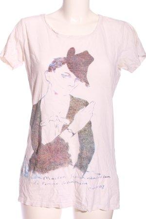 Maison Scotch T-Shirt pink Motivdruck Casual-Look
