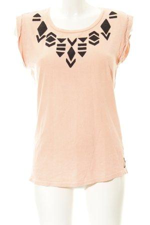 Maison Scotch T-Shirt apricot-schwarz Beach-Look