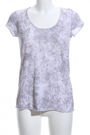 Maison Scotch T-Shirt weiß abstraktes Muster Casual-Look