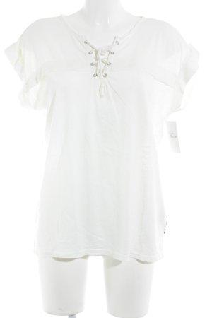 Maison Scotch T-Shirt creme-hellgelb schlichter Stil