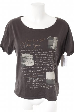Maison Scotch T-Shirt dunkelgrau Motivdruck Casual-Look