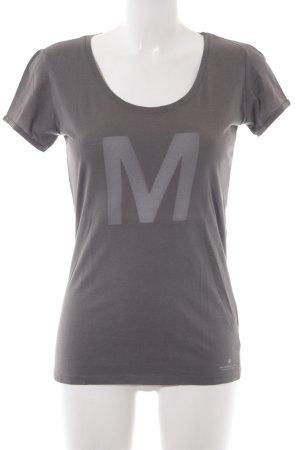 Maison Scotch T-Shirt dunkelgrau Schriftzug gedruckt Casual-Look