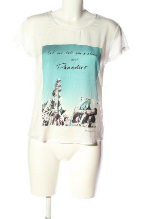Maison Scotch T-Shirt Motivdruck Casual-Look