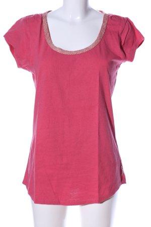 Maison Scotch T-Shirt pink meliert Casual-Look