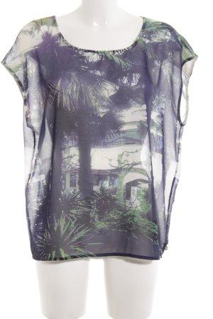 Maison Scotch T-Shirt abstraktes Muster Casual-Look