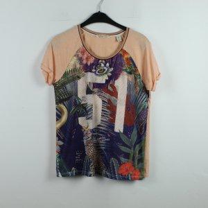 MAISON SCOTCH T-Shirt Gr. 36 rosa bunt gemustert (20/01/198)