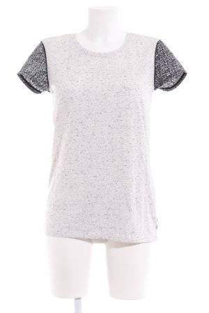 Maison Scotch T-Shirt hellgrau meliert Logo-Applikation