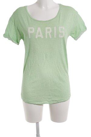 Maison Scotch T-Shirt hellgrün Schriftzug gedruckt Casual-Look