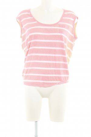 Maison Scotch T-Shirt hellrot-hellgrau Streifenmuster Casual-Look