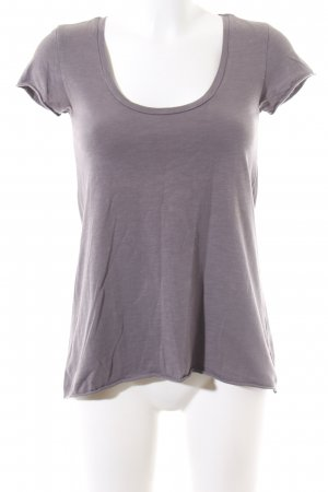 Maison Scotch T-Shirt lila meliert Casual-Look