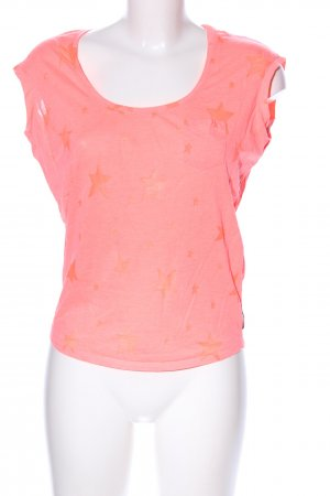 Maison Scotch T-Shirt pink-hellorange Motivdruck Casual-Look