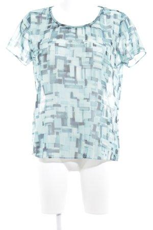 Maison Scotch T-Shirt türkis-kadettblau abstraktes Muster Casual-Look